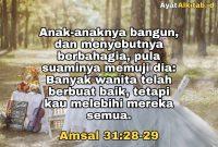 Amsal 31:28-29